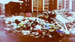 Сбор бытовых отходов в Москве